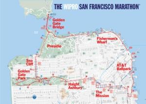 SF Marathon & Half Marathon Course Map