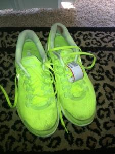 Nike Lunarglide 4+ kept me going! Love the volt color..